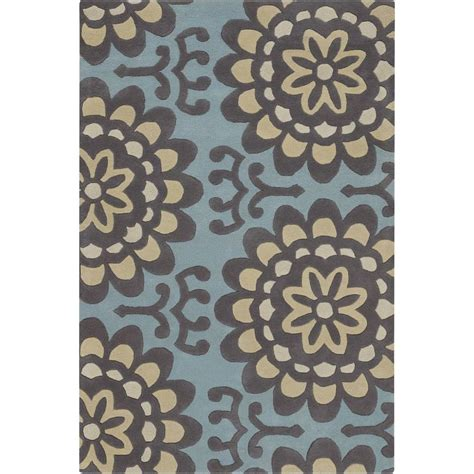 6 x 7 area rug chandra butler grey blue 5 ft x 7 ft 6 in indoor area rug amy13220 576 the home depot