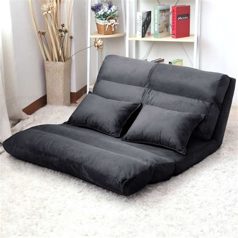 double chaise sleeper sofa lounge sofa bed double size floor recliner folding chaise