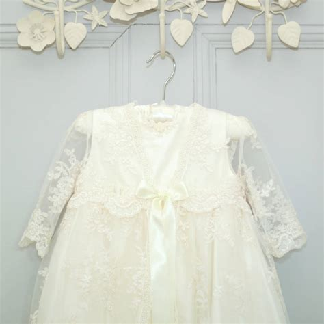 Dress Renda Baby sleeved lace christening gown by adore baby