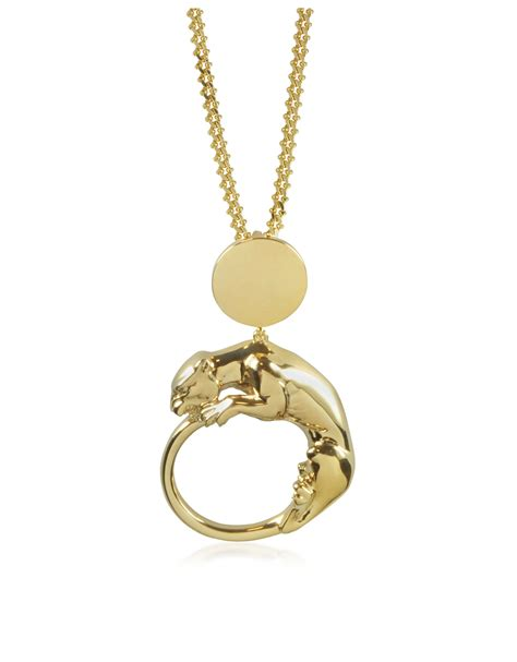 Gold Light Pendant Roberto Cavalli Panther Light Gold Tone Metal Pendant In Gold Lyst
