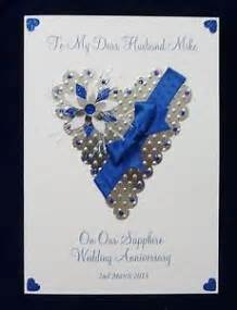 personalised 45th 65th sapphire wedding anniversary card husbandfriends etc ebay