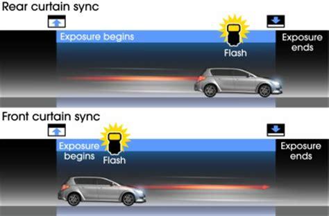 rear curtain sync sony global α lighting system rear curtain sync