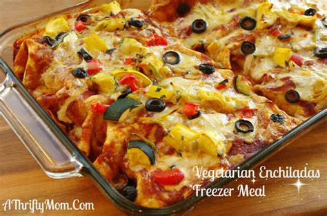 vegetarian enchiladas vegetarian recipe freezer meal