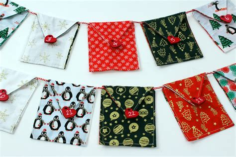 sewing christmas crafts how to make fabric advent bunting hobbycraft