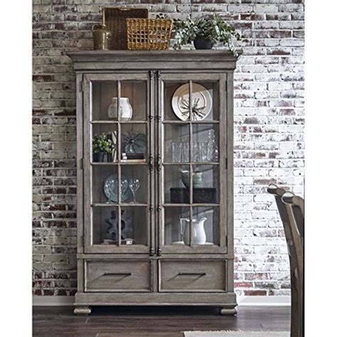 Samuel Lawrence Prospect Hill China Cabinet in Gray