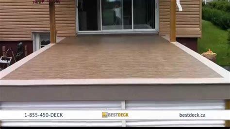 recouvrement patio beton innovadeck ca rev 234 tement de pvc pour terrasse contour