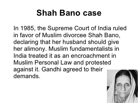 section 9 of hindu marriage act in hindi the shah bano case gt gt facts implications politics ias