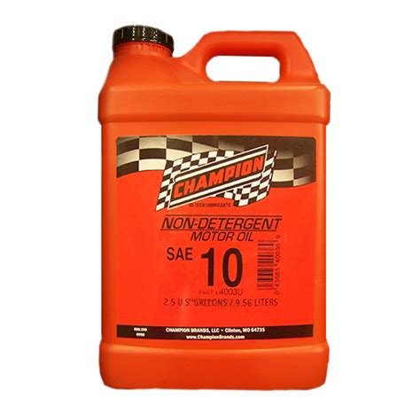 non detergent motor chion non detergent 10w motor 2 5 gallon 4003u
