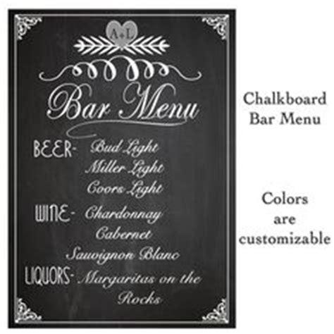 1000 ideas about wedding bar menu on pinterest barn
