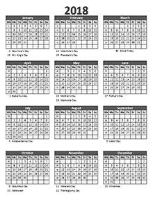Calendar 2018 Week No 2018 Business Calendar Templates Free Business