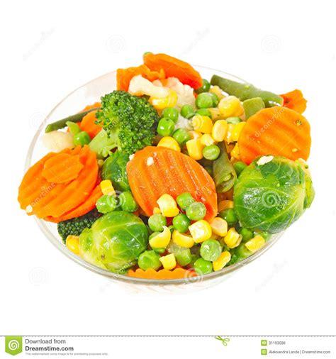 m s frozen vegetables frozen vegetables in a glass bowl stock photo image