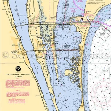 Floor And Decor Clearwater Fl by Florida Cocoa Merritt Island Nautical Chart Decor