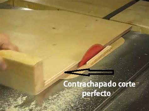 como cortar tableros de melamina  contrachapado sin