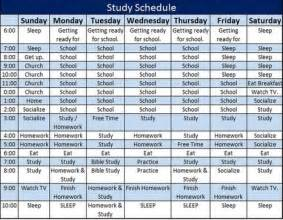 school study schedule template receipt templates in excel and wo