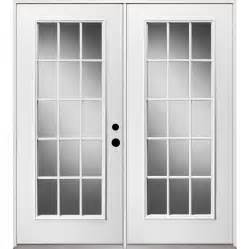 Patio Doors Lowes Shop Reliabilt 71 375 In 15 Lite Glass Steel