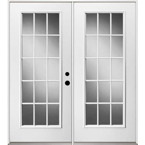 inswing patio door shop reliabilt 71 375 in 15 lite glass steel