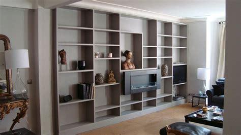 estantes modernos muebles tv integrados con biblioteca 75 ideas modernas