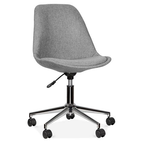 eames inspired upholstered office chair with castors cult uk
