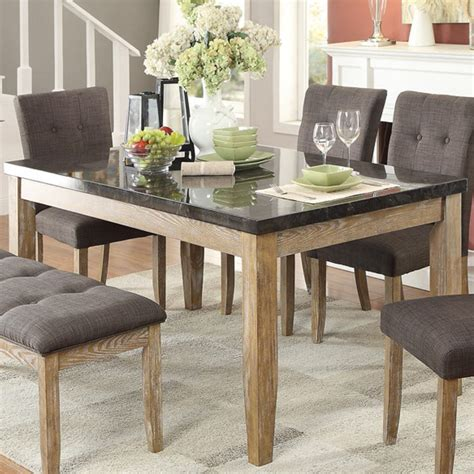 dining table nj berenice modern dining homelegance huron contemporary dining table with faux