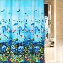 waterproof bathroom sea fabric shower curtain