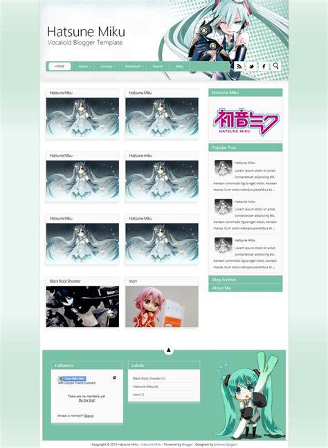 themes line hatsune miku hatsune miku blogger templates blogger template by
