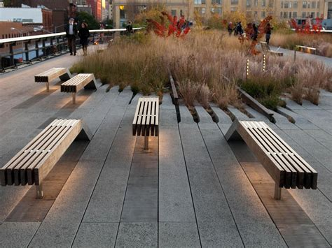highline benches designers james corner field operations location new