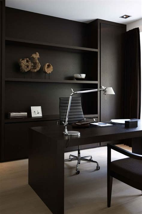 27 Beautiful Home Office Furniture 25 Gorgeous Home Offices With Black Walls Digsdigs