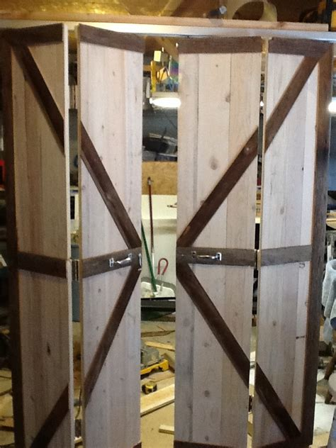 bifold barn door bi fold barn doors opened quot barn door quot decor