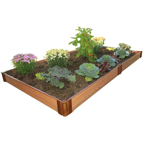 Frame It All Raised Garden Bed Kit Frame It All One Inch Series 4 Ft X 8 Ft X 5 5 In Composite Raised Garden Bed Kit 300001063