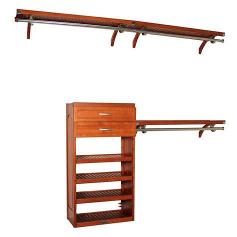 Woodcrest Closet System by Closet Organizers For Home Office Or Workshop