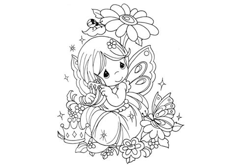 cute fairy coloring page