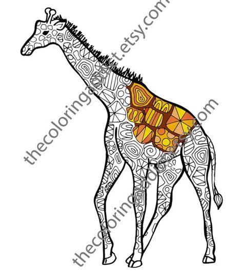 giraffe coloring pages pdf giraffe coloring sheet animal coloring pdf zentangle