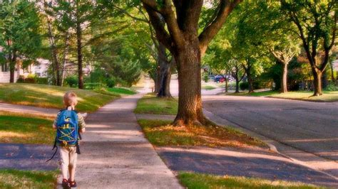 do you let your kid walk to school or play outside alone