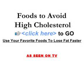 foods to avoid high cholesterol