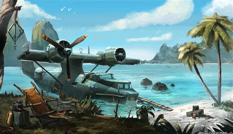 Kitchen Triangle With Island Pby Catalina Stranded By Aisxos On Deviantart