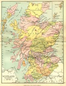 scotland counties map scotland mappery