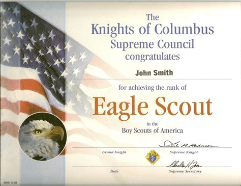 eagle scout card template eagle scout certs