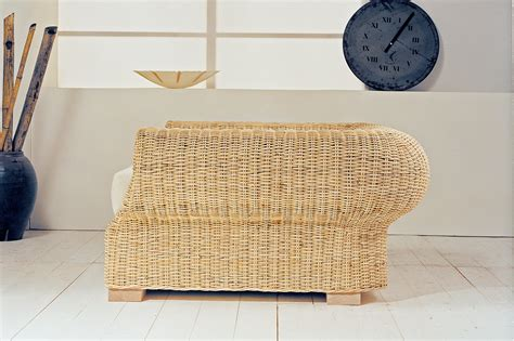 Poltrone In Rattan by Divano 3 Posti In Rattan Cester