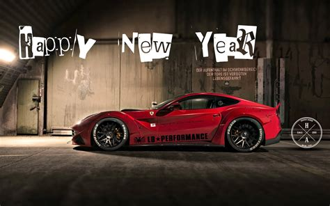 happy new year with sports cars hd wallpaper car wallpapers