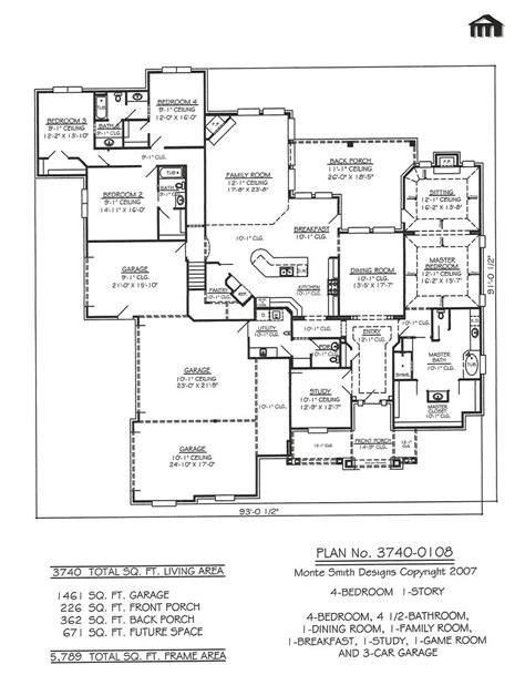 garage homes floor plans bedroom car garage floor plans small house with custom and