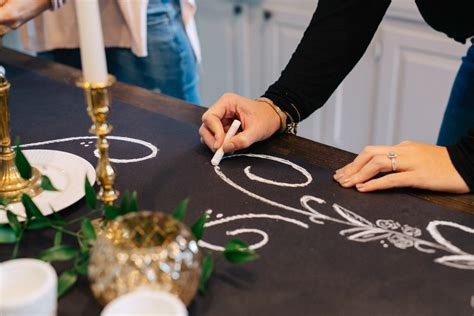 diy chalkboard runner wedding ideas inspiration from the celebration
