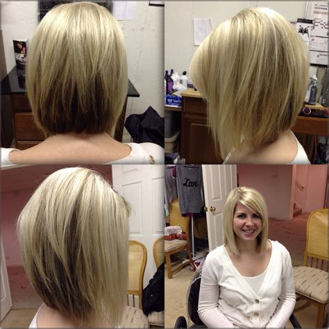 angled layered medium length haircuts angled bobs with bangs razor cut bob bobs and blondes
