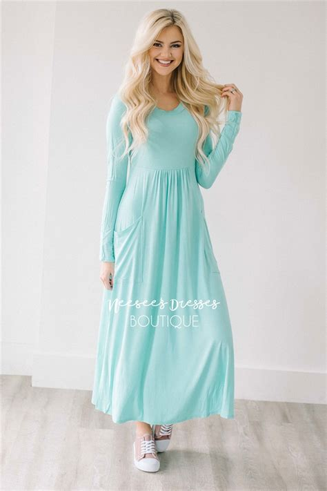 modest dresses mint pockets casual modest dress best and affordable