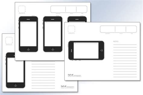 Getting Started With Mobile App Design Life On Lars Sketch Templates Wireframes