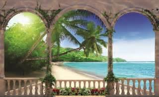 Tropical Beach Wall Murals Arches Tropical Beach Sea Photo Wallpaper Wall Mural Room