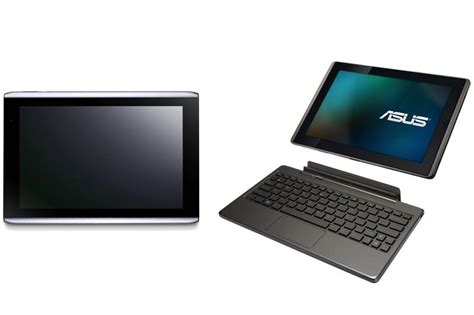 Tablet Asus Dan Acer Asus Eee Pad Transformer Vs Acer Iconia A500 Tablet Showdown Pc World Australia