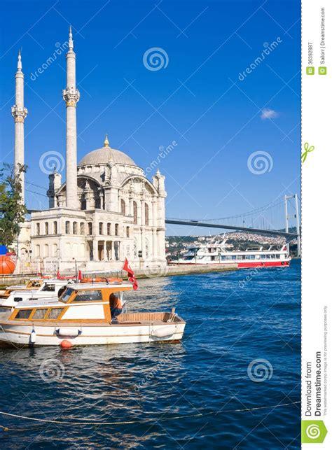 turkish bank istanbul ortakoy mosque royalty free stock photography image