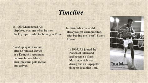 muhammad ali biography timeline muhammad ali his life and times