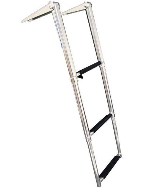boat swim ladder strap 3 step stainless steel telescoping marine boat ladder swim