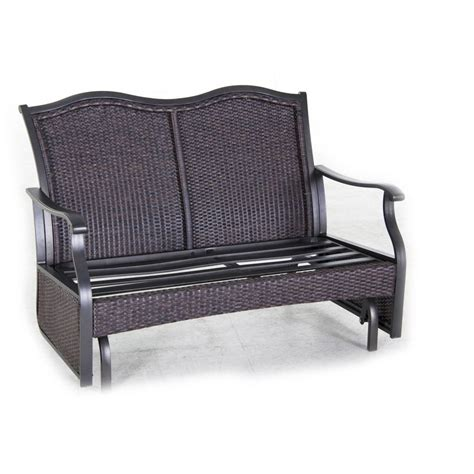 Furniture: Castlecreek Double Glider Chair Patio Furniture At Retro Glider Patio Chairs Glider